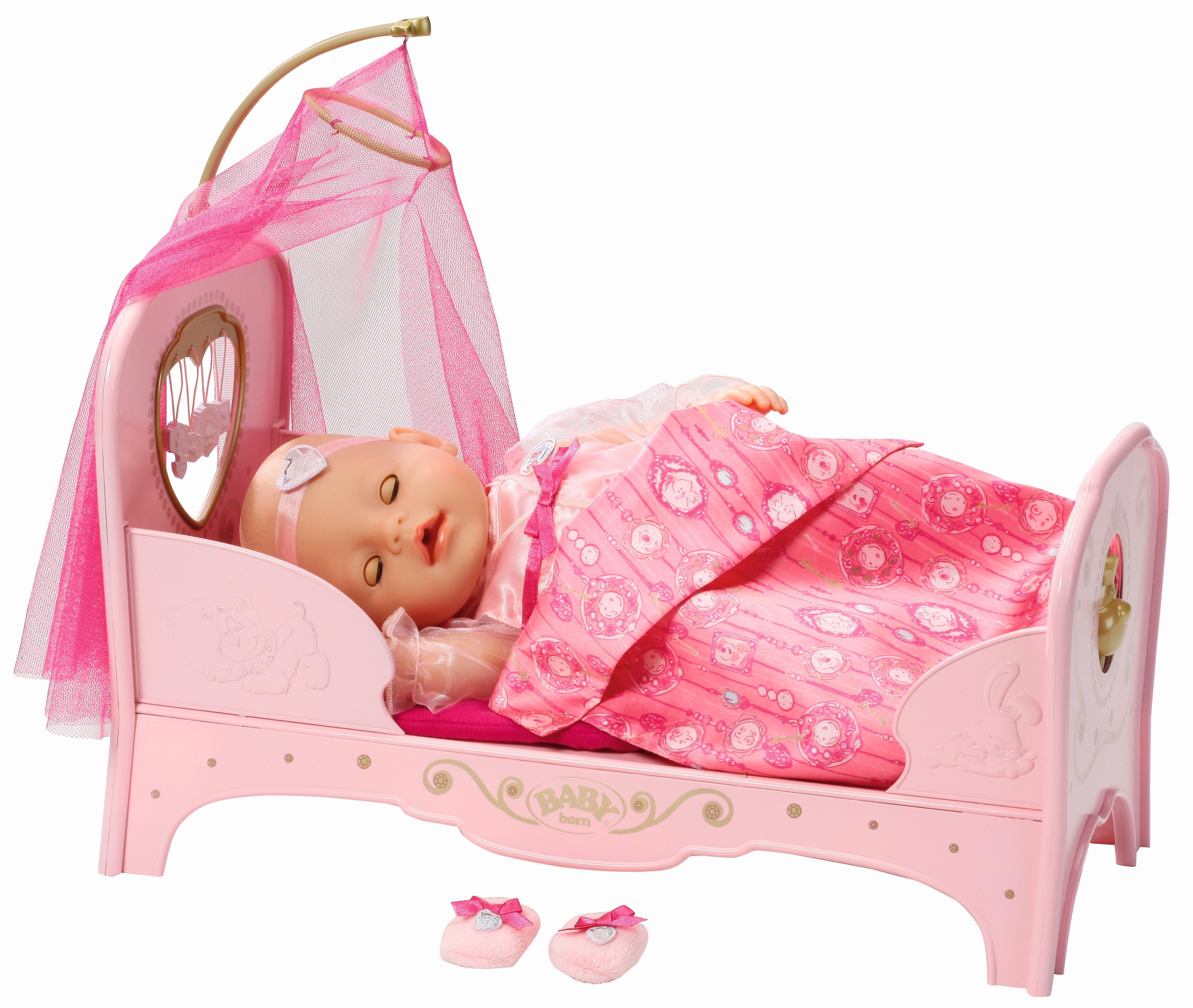 Baby born prinzessin bett interaktiv