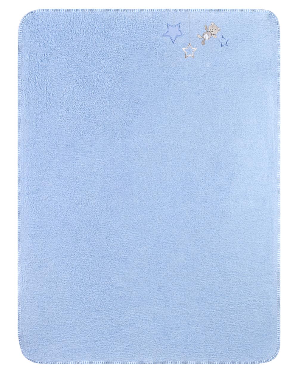 Zöllner Decke Sternchen blau 75x100cm