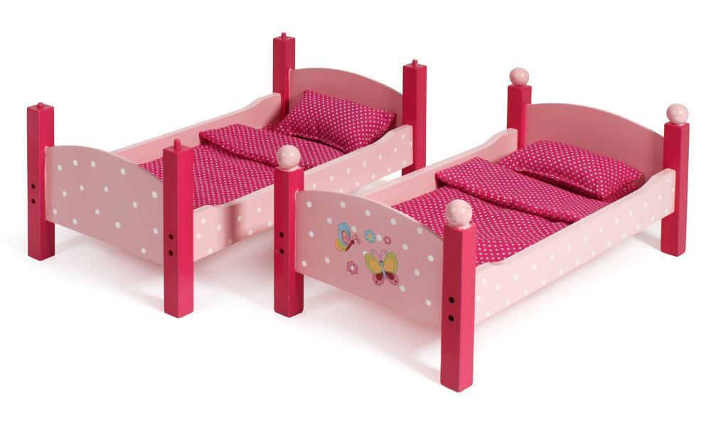 Etagenbett Puppen : Puppe etagenbett mit treppe und kissen auf einem weißen