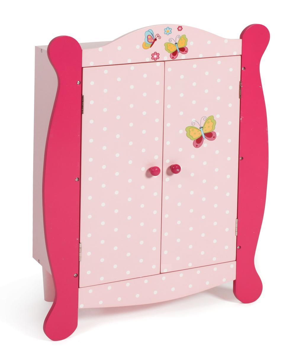 Puppen Kleiderschrank pink