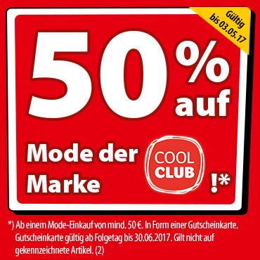 50% auf Mode der Marke COOL CLUB