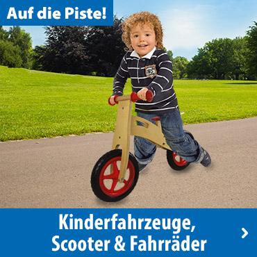 Kinderfahrzeuge, Scooter & Fahrräder