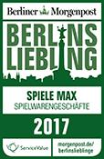 Berlins Liebling 2017 Auszeichnung