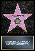 Passion Star 2015 Auszeichnung